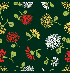 pattern of the decorative chrysanthemums vector image