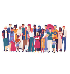People characters different nationality vector
