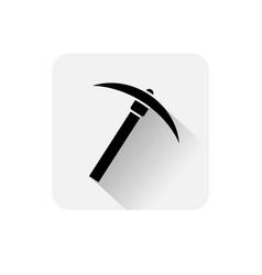 Pickaxe icon bitcoin mining web money digital vector