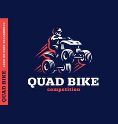 quad bike competition logo design vector image