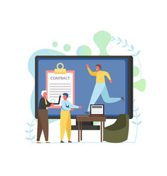 Recruitment concept flat style design vector
