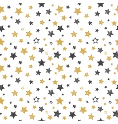Seamless pattern with hand drawn stars Stylish vector image