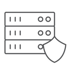server protection thin line icon privacy and vector image