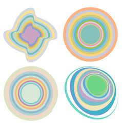 Set creamy pastel smudged smeared colorful vector