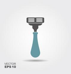 shaving razor icon in flat style vector image