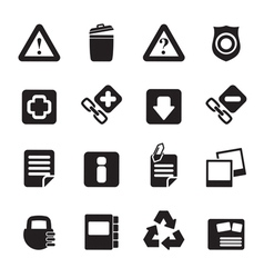 Silhouette Web site and computer Icons vector image