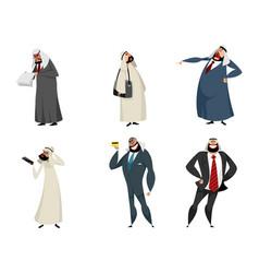 six arab businessmen vector image