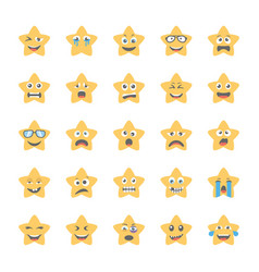 Smiley flat icons set 41 vector