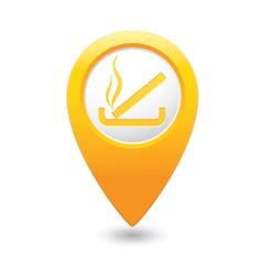 Smoking MAP pointer yellow vector