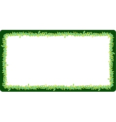 Square rounded frame green neon graffiti tags vector
