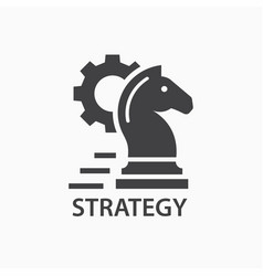 Strategy icon startup logo template vector