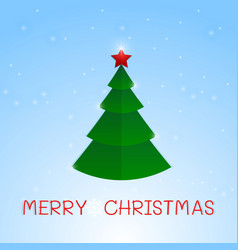 stylized star wink christmas tree winter vector image
