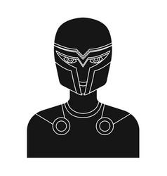 Superman single icon in black style superman vector
