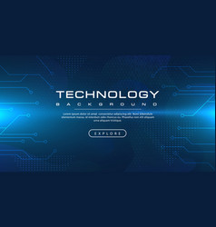 technology banner blue background concept vector image