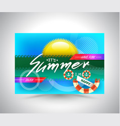 template banner for summer advertising vector image