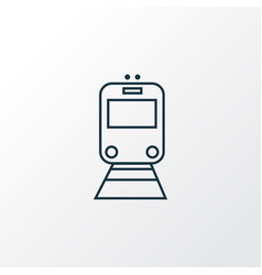 train icon line symbol premium quality isolated vector image