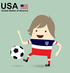 united states america national football team vector image
