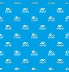 water energy pattern seamless blue vector image