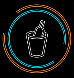wine bucket drink alcohol vector image