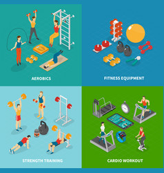 Workout fitness design concept vector