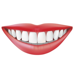 Beautiful smile vector image