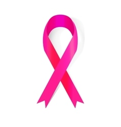 Pink Ribbon The International Symbol of the Fight vector image