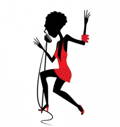 singing girl vector image vector image