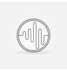 Sound logo or icon vector image vector image