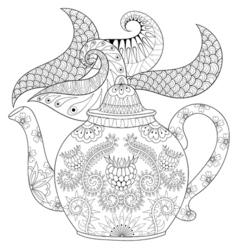hot beverage vector image vector image