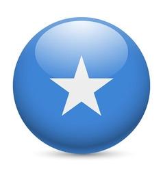 Round glossy icon of somalia vector image vector image