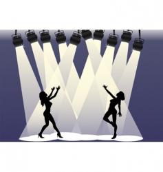 spotlight dancers vector image