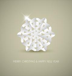 white paper christmas snowflake vector image
