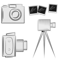 A set of cameras eps10 vector image vector image