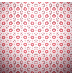Abstract flower pattern wallpaper with hearts vector image vector image