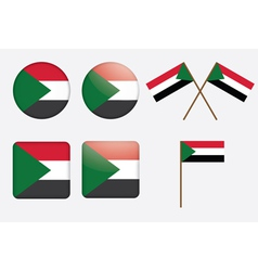 badges with flag of Sudan vector image vector image