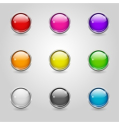 Colored round web buttons vector image vector image