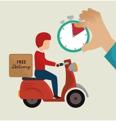 free delivery guy ride motorcycle icons vector image vector image