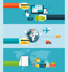 icons for web and mobile design seo vector image vector image
