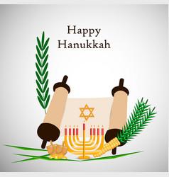 jewish holiday hanukkah background vector image vector image