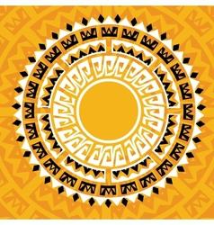 sun madala in maya style - vector image vector image