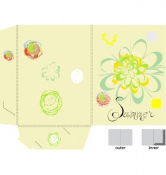 template for folder with flowers vector image