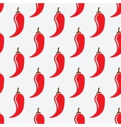 chilli pepper geometric seamless pattern vector image