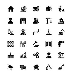 Construction Icons 1 vector image vector image