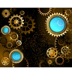 Dark Background with Gears vector image vector image