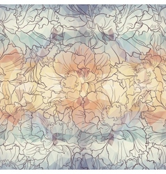 Romantic seamless floral pattern EPS 10 vector image vector image