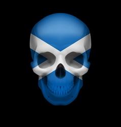Scottish flag skull vector