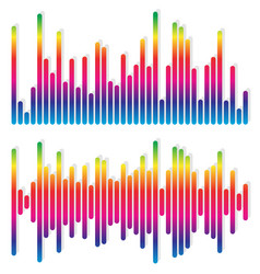 2 different equalizer eq graphics - vertical bars vector