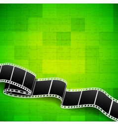Abstract green background with film reel vector image