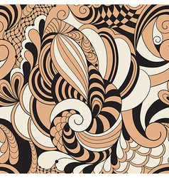 Abstract Seamless Doodle Pattern vector image