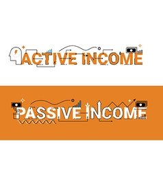 Active and passive income vector